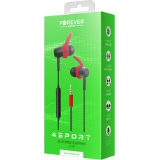 Wired earphones Forever 4Sport SP-100 red