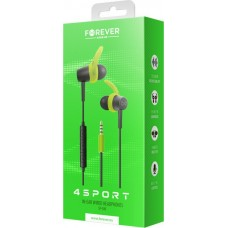Wired earphones Forever 4Sport SP-100 green