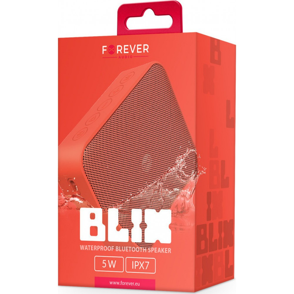 Bluetooth speaker Forever Blix 5 red BS-800 Computers & Office