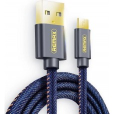 Charging Cable Remax Micro USB Blue 1.2m Cowboy RC-096m