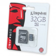 Kingston microSD memory card 32 GB with adapter
