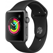 Apple Watch Series 3 GPS 42mm Grey Alu Black Sport Band