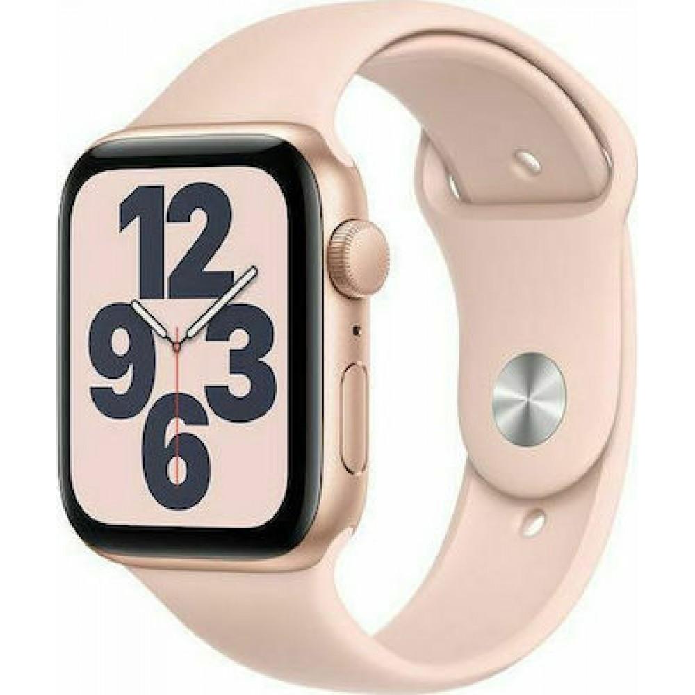 Apple Watch SE GPS 44mm Gold Alu Pink Sport Band Τηλεφωνία