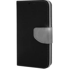 OEM Fancy Book Black/Steel (Galaxy J3 2016)